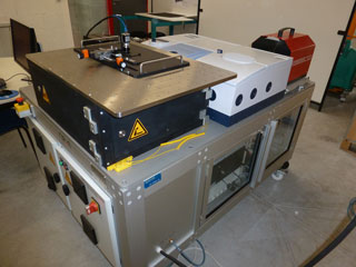 Infrared sensors spectral analysis bench