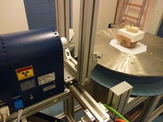 Banc de test pour tomographie à rayons X
