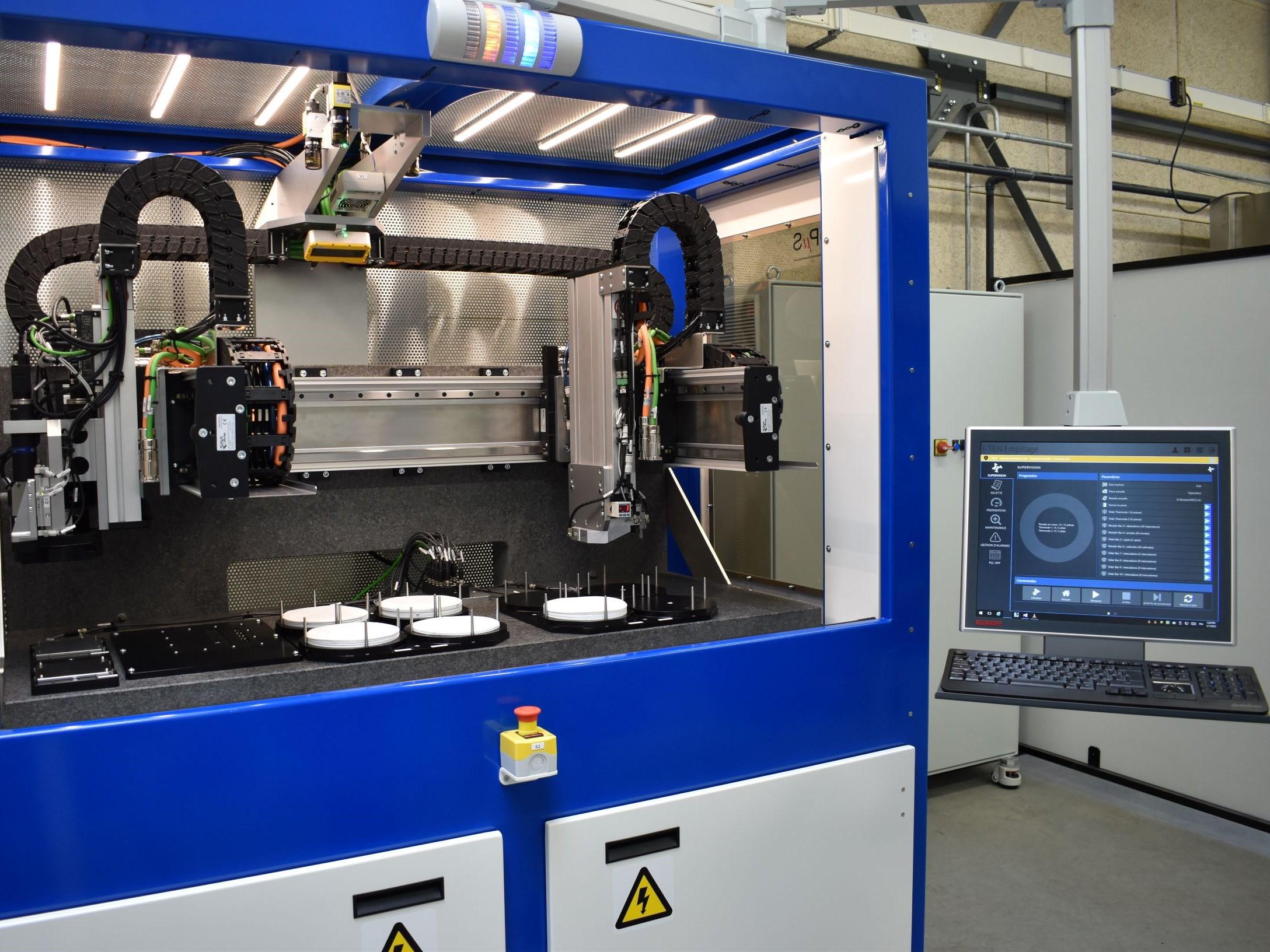 Automatic component pick & place machine